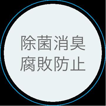 広島で販売・購入【スーパーアルカリイオン水】 特徴3:除菌消臭・腐敗防止